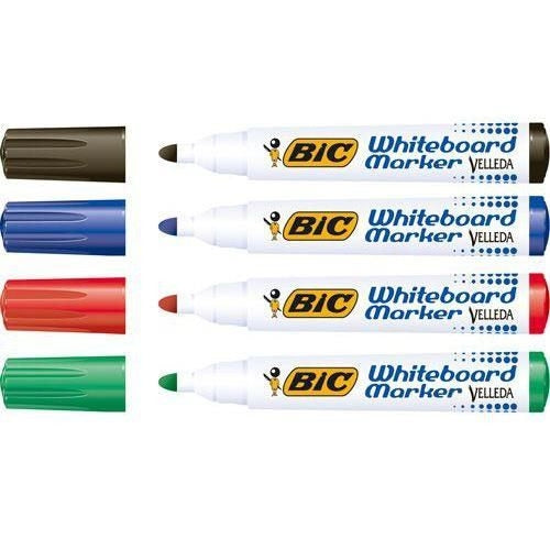 Bic Velleda 1701 Assorted Whiteboard Markers Pack 48's