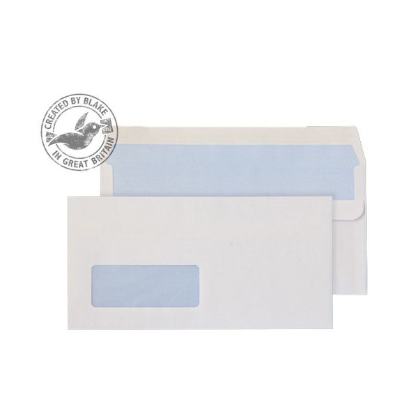 Blake Purely Everyday Wallet Self Seal Window White DL 110×220mm 90gsm Envelopes (1000)