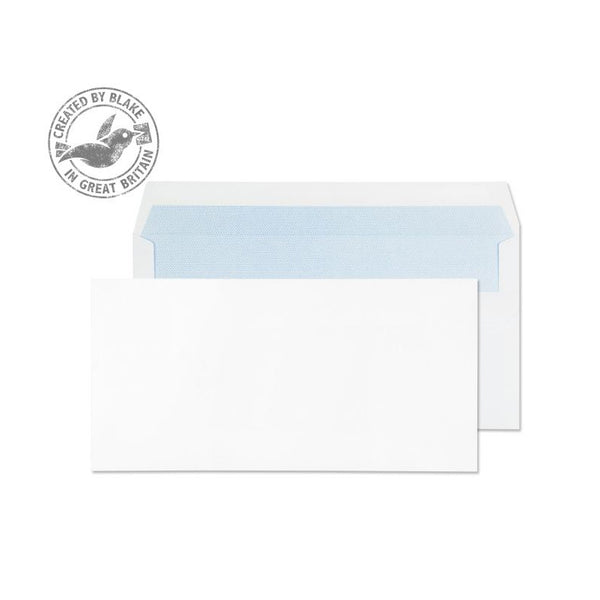 Blake Purely Everyday Wallet Self Seal White DL 110×220mm 90gsm Envelopes (1000)
