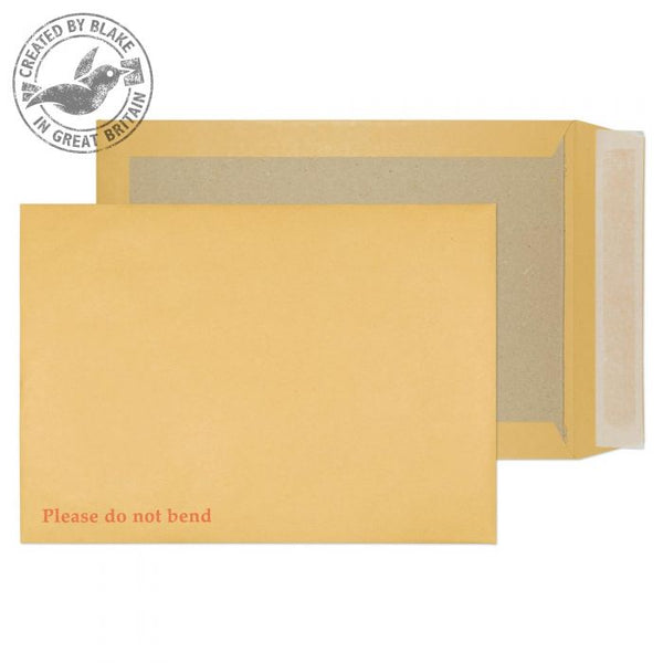 Blake Purely Board Backed Pocket Peel and Seal Manilla C4 324×229mm 120gsm