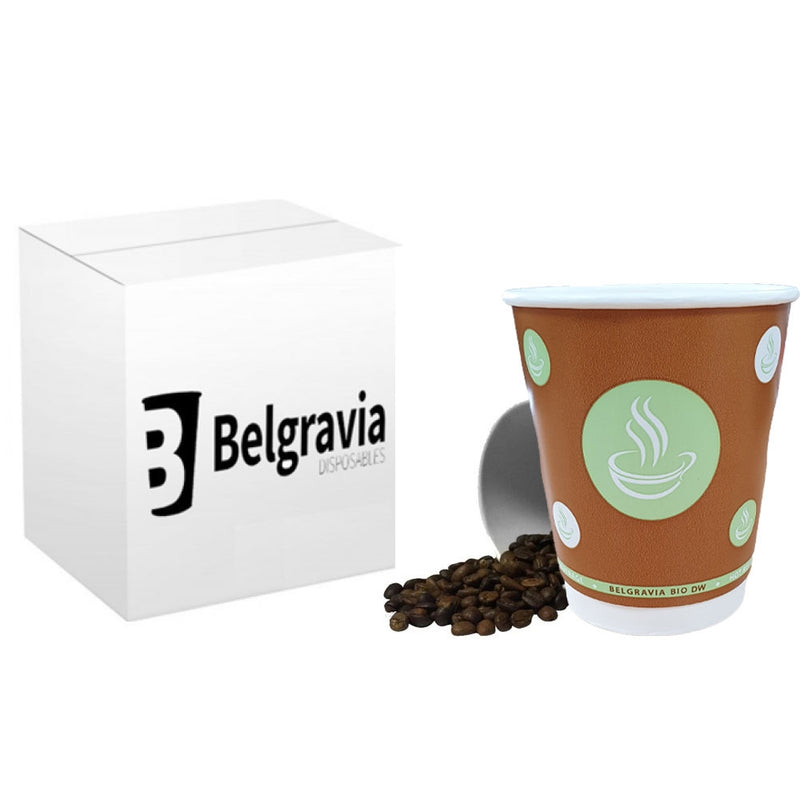 12oz Belgravia Biodegradable Double Walled Cups (500's)