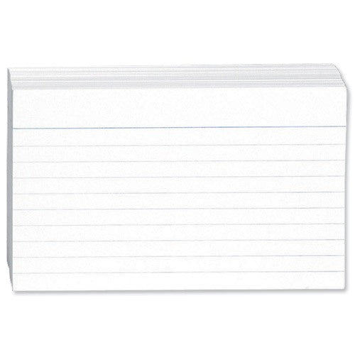 Concord 6x4inch White Ruled Record Card Pack 100's