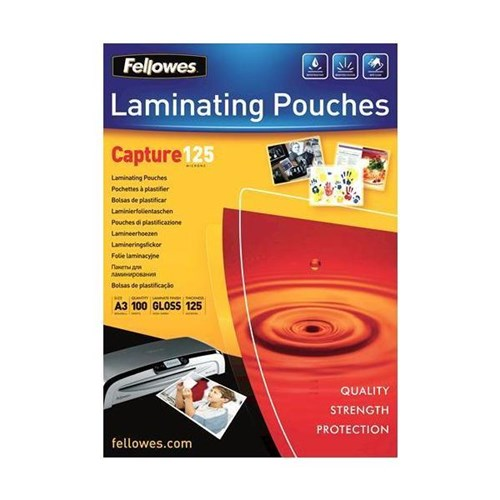 Fellowes A3 Laminating Pouches / 250 Micron / Glossy / Pack of 100