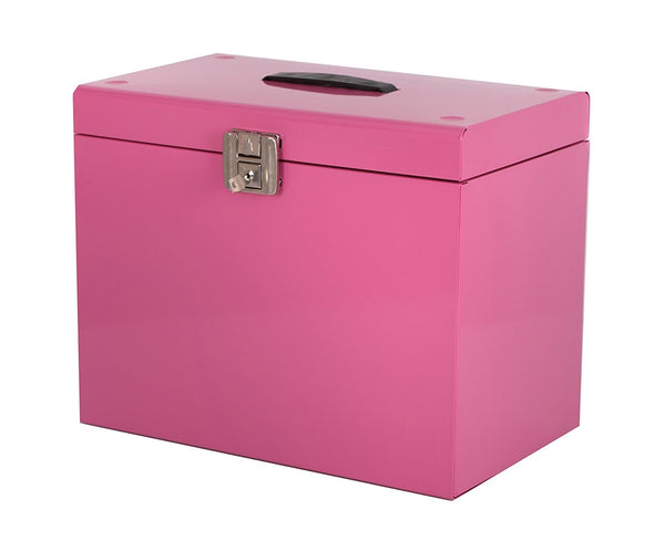 Cathedral A4 Pink Metal File Box