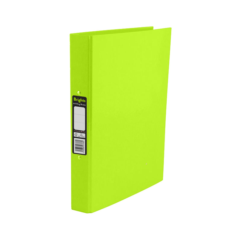 Pukka Pads Brights Ring Binder A4 Green (BR-7768)