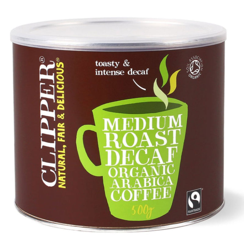 Clipper Fairtrade Arabica Organic Decaf Coffee 500g