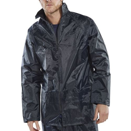 B-Dri Weatherproof Navy Nylon Jacket Multiple Sizes