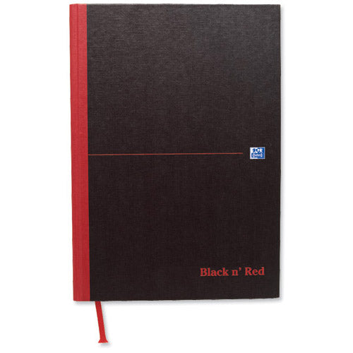 Black n' Red Notebook Smart Ruled Casebound 90gsm A4 Ref 100080428