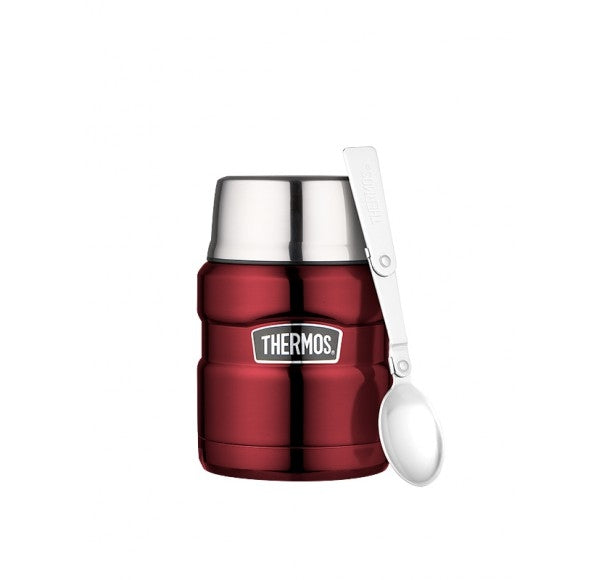 Thermos Stainless Red Food Flask 470ml