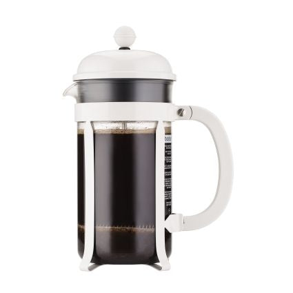 Bodum Chambord 8 Cup White Coffee Press 1 Litre