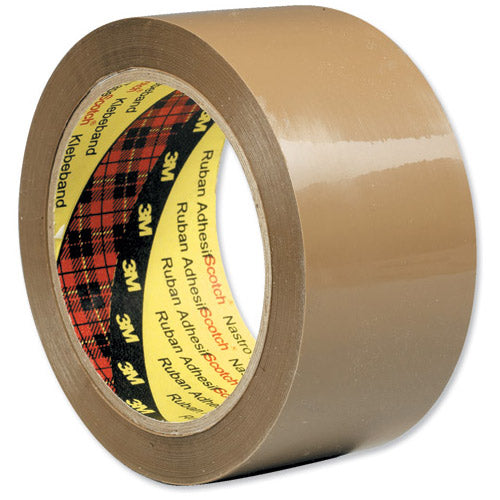 Scotch Buff Packaging Tape Polypropylene 48mmx66m (Pack of 6)