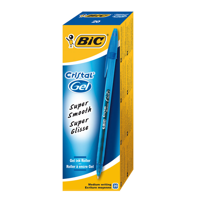 BIC Cristal Medium Gel Blue (Pack of 20)