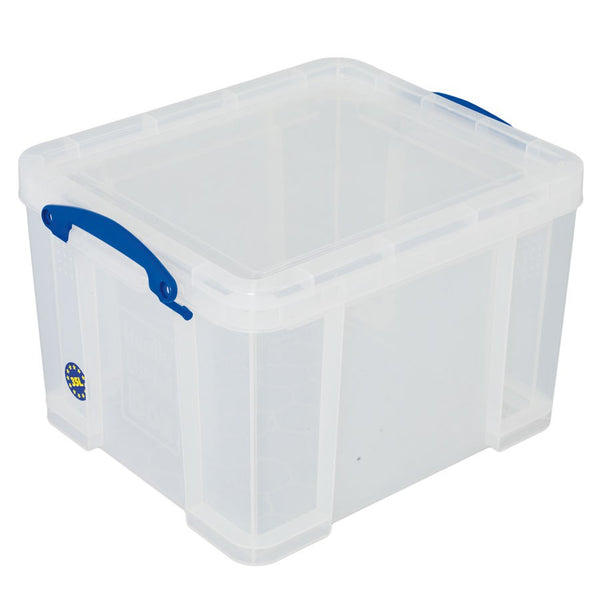 Really Useful Clear Plastic Storage Box 35 Litre