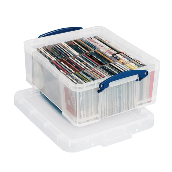 Really Useful Clear Plastic Storage Box 18 Litre
