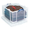Really Useful Clear Plastic Storage Box 145 Litre