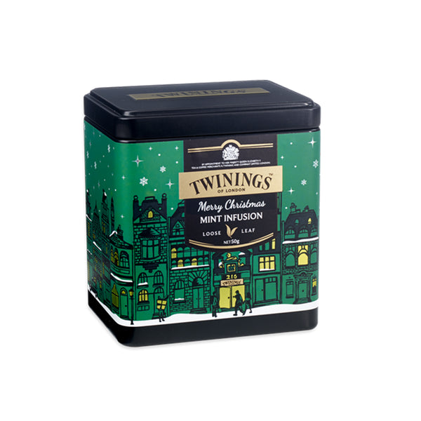 Twinings Merry Christmas Mint Infusion Loose Tea Caddy