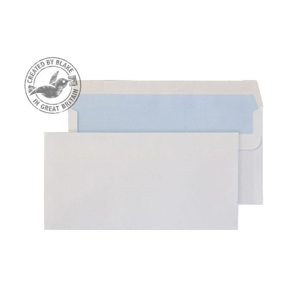Blake Purely Everyday Wallet Self Seal White DL 110×220mm 100gsm Envelopes (500)