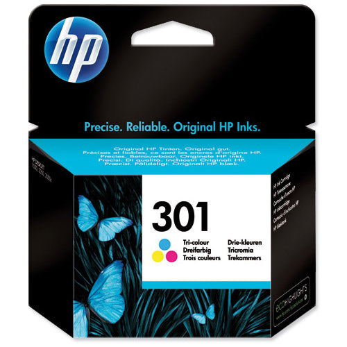 Hewlett Packard 301 Tri Colour Inkjet Cartridge Code CH562EE