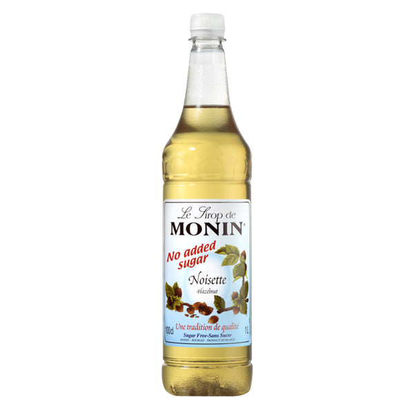 Monin Sugar Free Hazelnut Coffee Syrup 1 litre (Plastic) (Full Pack 6's)