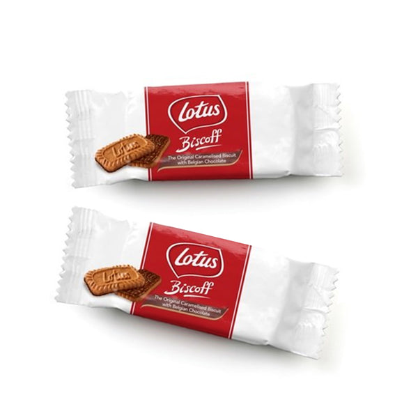 Lotus Biscoff Individually Wrapped Caramelised Biscuits with Belgian Chocolate Triple Pack (84 Packs)