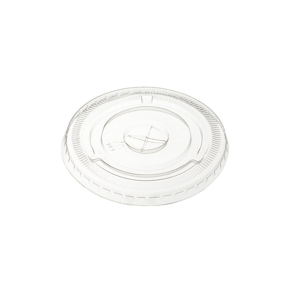 10oz Flat Smoothie Cup Lids with Hole (100)