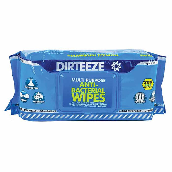 Dirteeze Multi Purpose Anti Bacterial Wipes Flowpack 200's