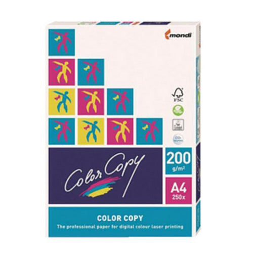 Color Copy A4 Premium Super Smooth Copier Paper - White - 200gsm - Pack of 250