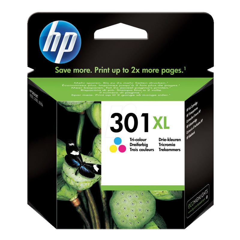 Hewlett Packard 301XL Tri Colour Inkjet Cartridge Code CH564EE