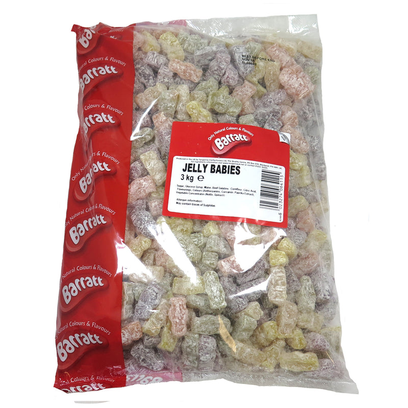 Barratt's Dusted Jelly Babies Sweets Bag 3kg