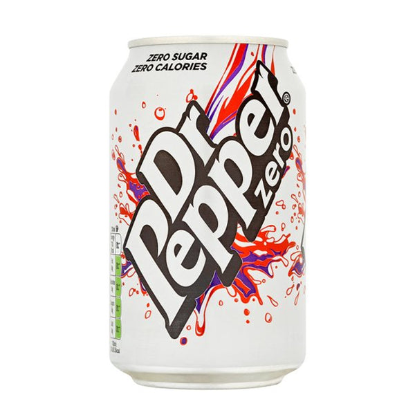 Dr Pepper Zero Cans Pack 24 x 330ml
