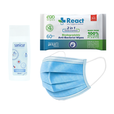 Antibacterial Hand and Surface Sanitiser Travel Pack
