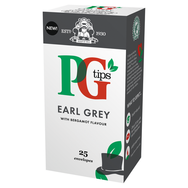 PG Tips Earl Grey Enveloped Tea Bags 25s (Full Pack 6's)