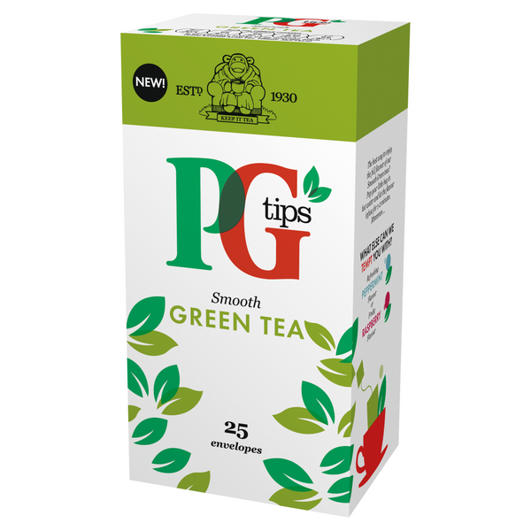 PG Tips Green Tea Enveloped Tea Bags 25s (Full Pack 6's)