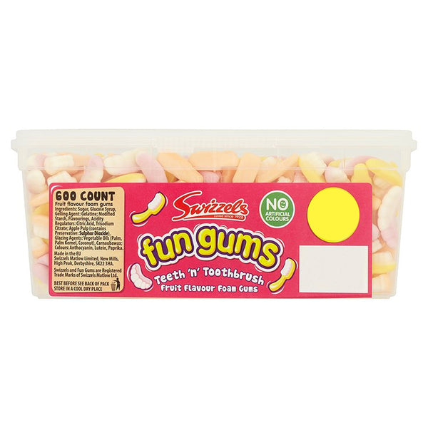 Swizzels Teeth n Toothbrush Sweets Tub 600