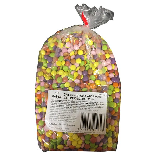 Glisten Milk Chocolate Beans Sweets Bag 3kg