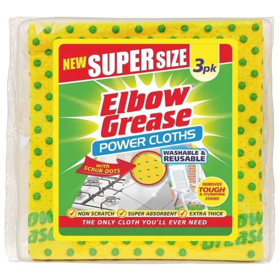 Elbow Grease Super Size Power Cloths 3 Pack