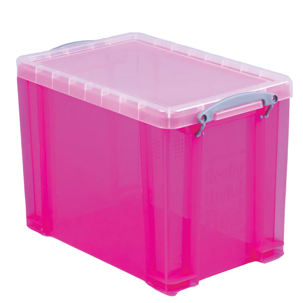 Really Useful Pink Plastic Storage Box 18 Litre
