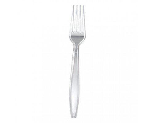 Plastic Premium Clear Forks 100's