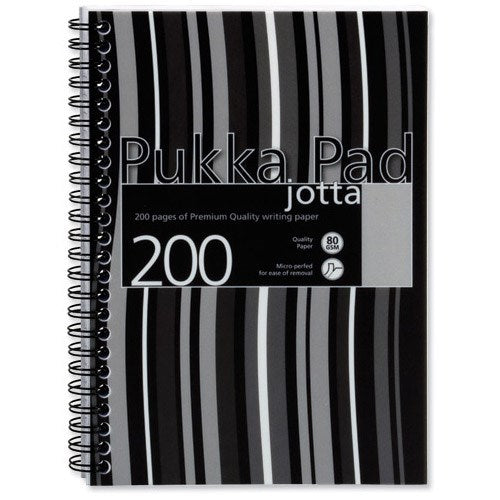 Pukka Pads Jotta Wirebound Notebook A5 Perforated and Ruled 200 Pages Pack 3