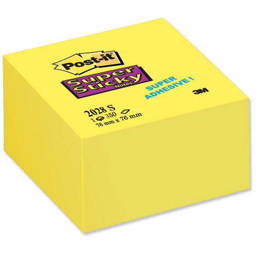 Post-It Super Sticky (101 x 101mm) Extra Large Lined Post-it Notes Canary Yellow (6 x 90 Sheets)