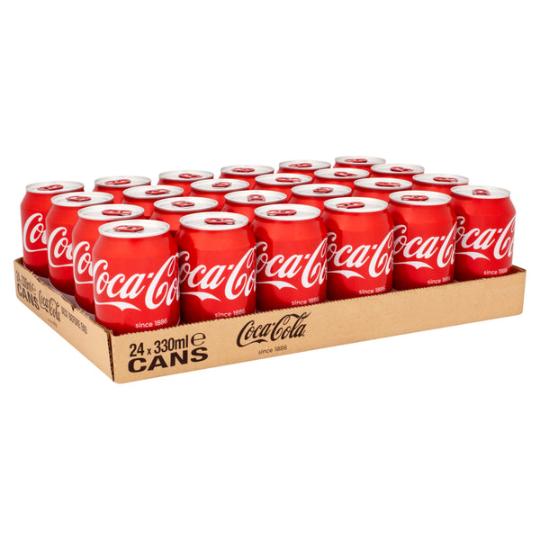 Coca Cola Cans 330ml Tray (24 Cans)