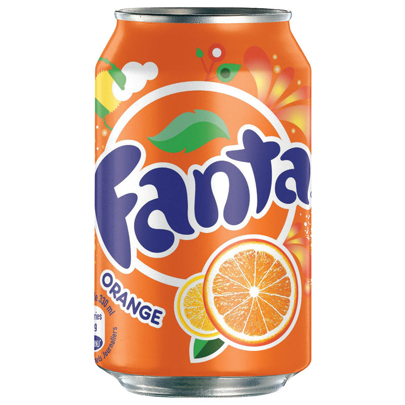 Fanta Orange Soft Drink 330ml Can (Pack of 24)