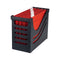 Jalema Resolution File Box with 5 A4 Suspension Files - Black & Red