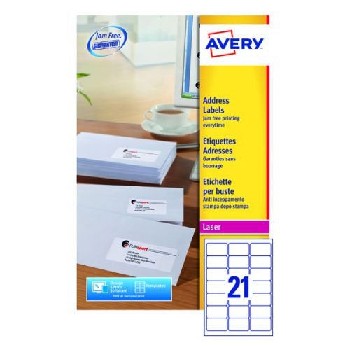 Avery White Addressing Labels 63.5x38.1mm 840 Labels