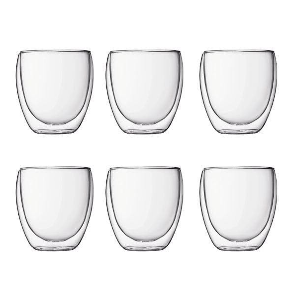 Bodum Pavina Glass Set 0.25 Litre Pack 6's