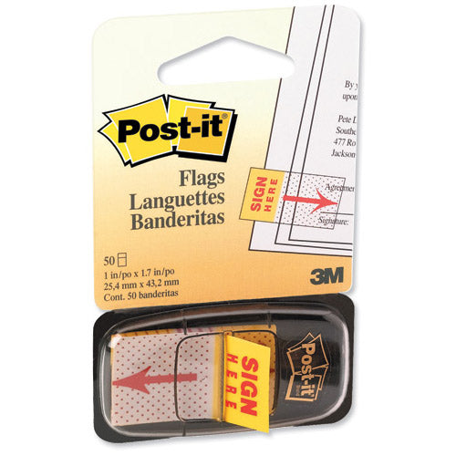 Post-It Sign Here Index (25mm) 1 Pack of 50 Flags