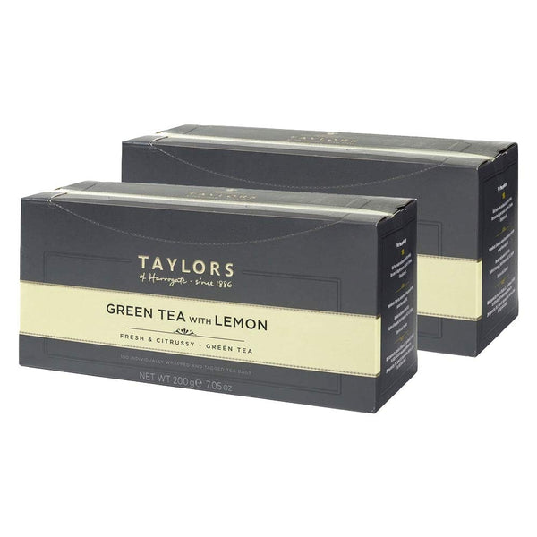 Taylors of Harrogate Green & Lemon Enveloped Tea Pack 100's