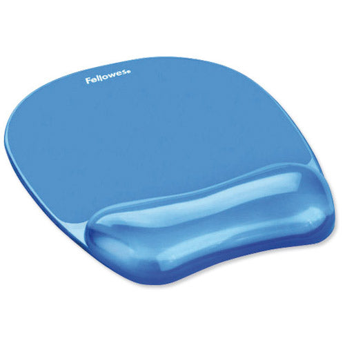 Fellowes Crystal Blue Mousepad and Wrist Rest Code 91141