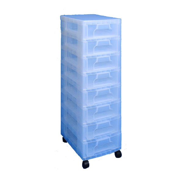 Really Useful Storage Boxes 8 x 7 Litre Clear Tower Clear Drawers
