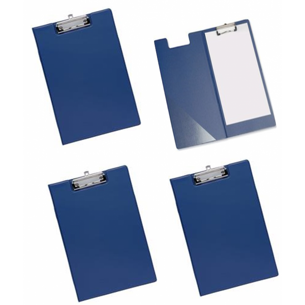 Belgravia Stationery PVC Fold Over (A4) Clipboard (Blue)